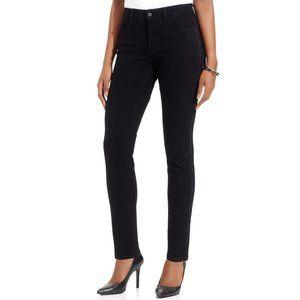 ALINA Tuxedo Embellished Skinny Jean 2/4 Black NEW